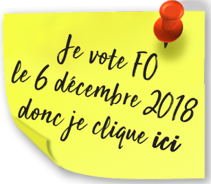 Post it je vote FO ICI