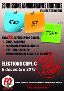 Elections 2018 Affiche SNPTP TECHNIQUE