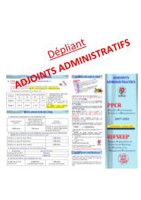 DEPLIANT ADJOINTS ADMINISTRATIFS