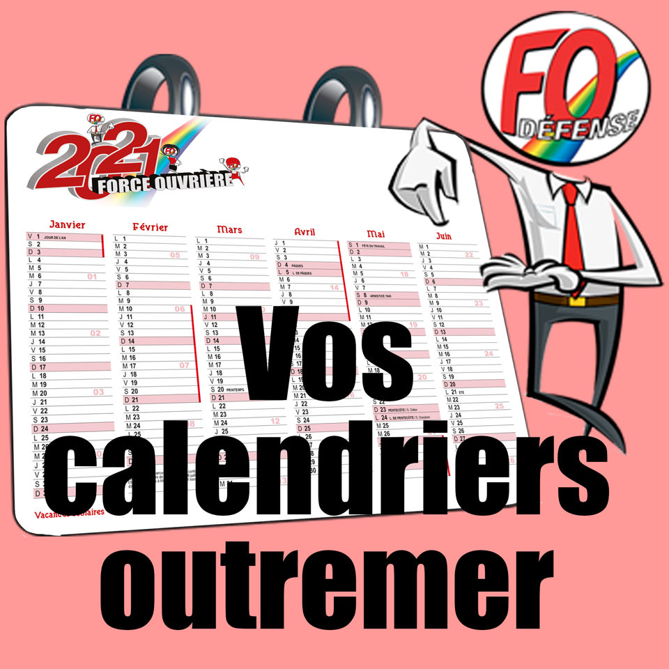 bloc calendrier outremer